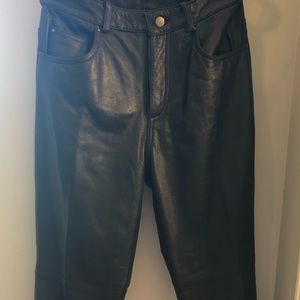 Colebrook & Co black leather Pants